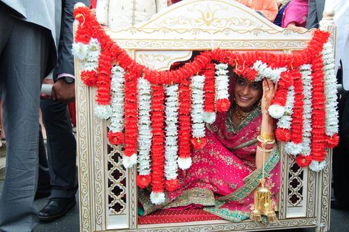 Sikh bride in a doli