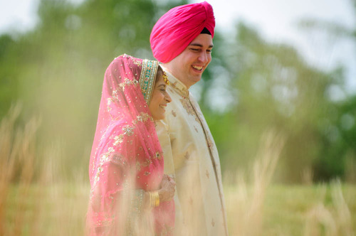 Henna on a Sikh bride