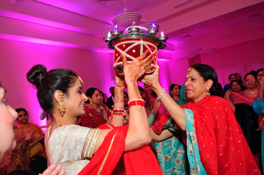 Sikh Bride dancing at her bridal shower