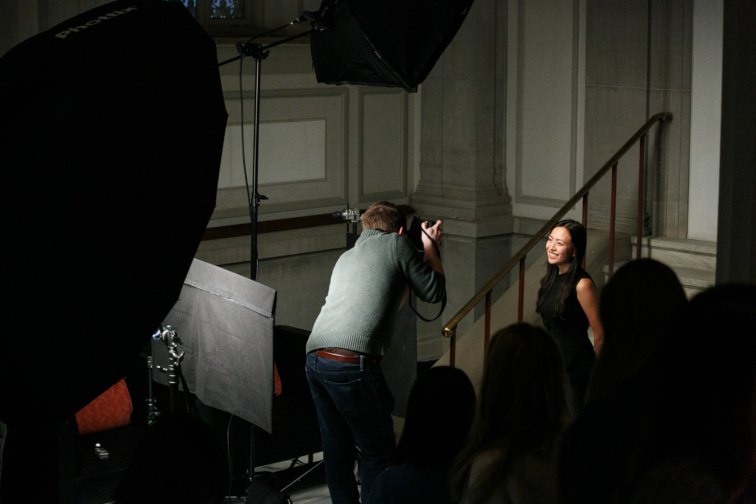 Behind the Scenes of my portrait setup