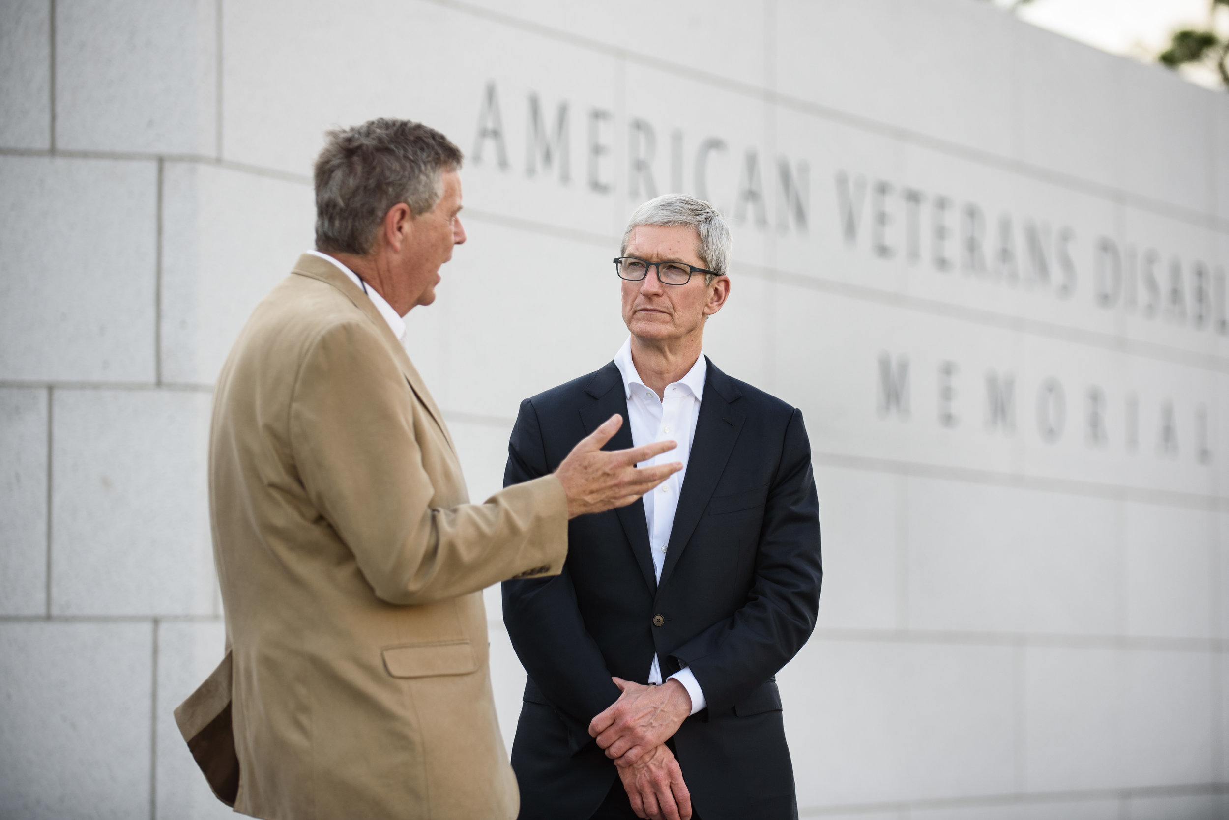 Apple CEO Tim Cook and Doug Hays in Washington, DC for Apple Inc.