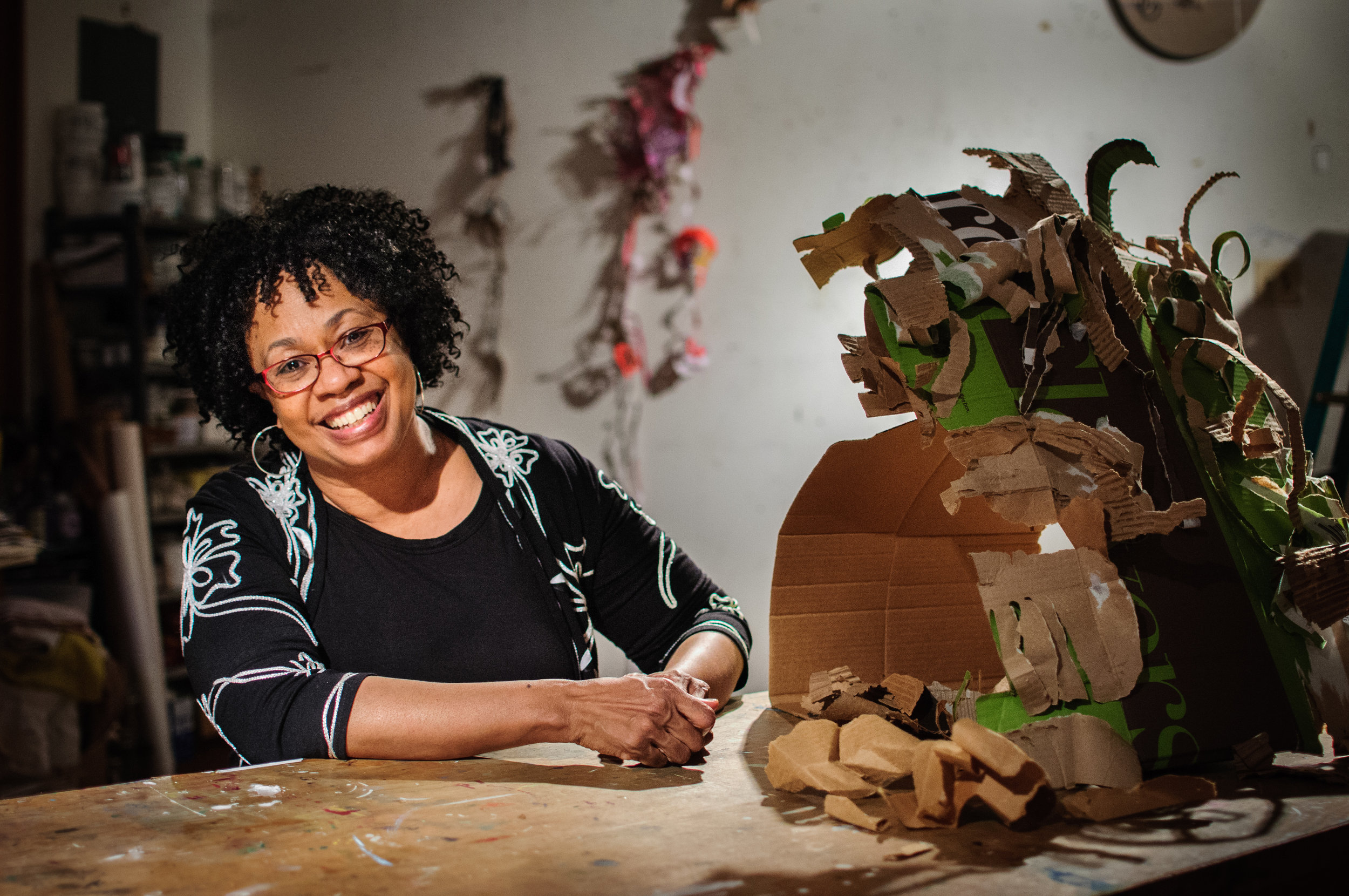 Portrait of educator Adjoa Burrowes photographed in Washington, DC for the Corcoran Gallery of Art.
