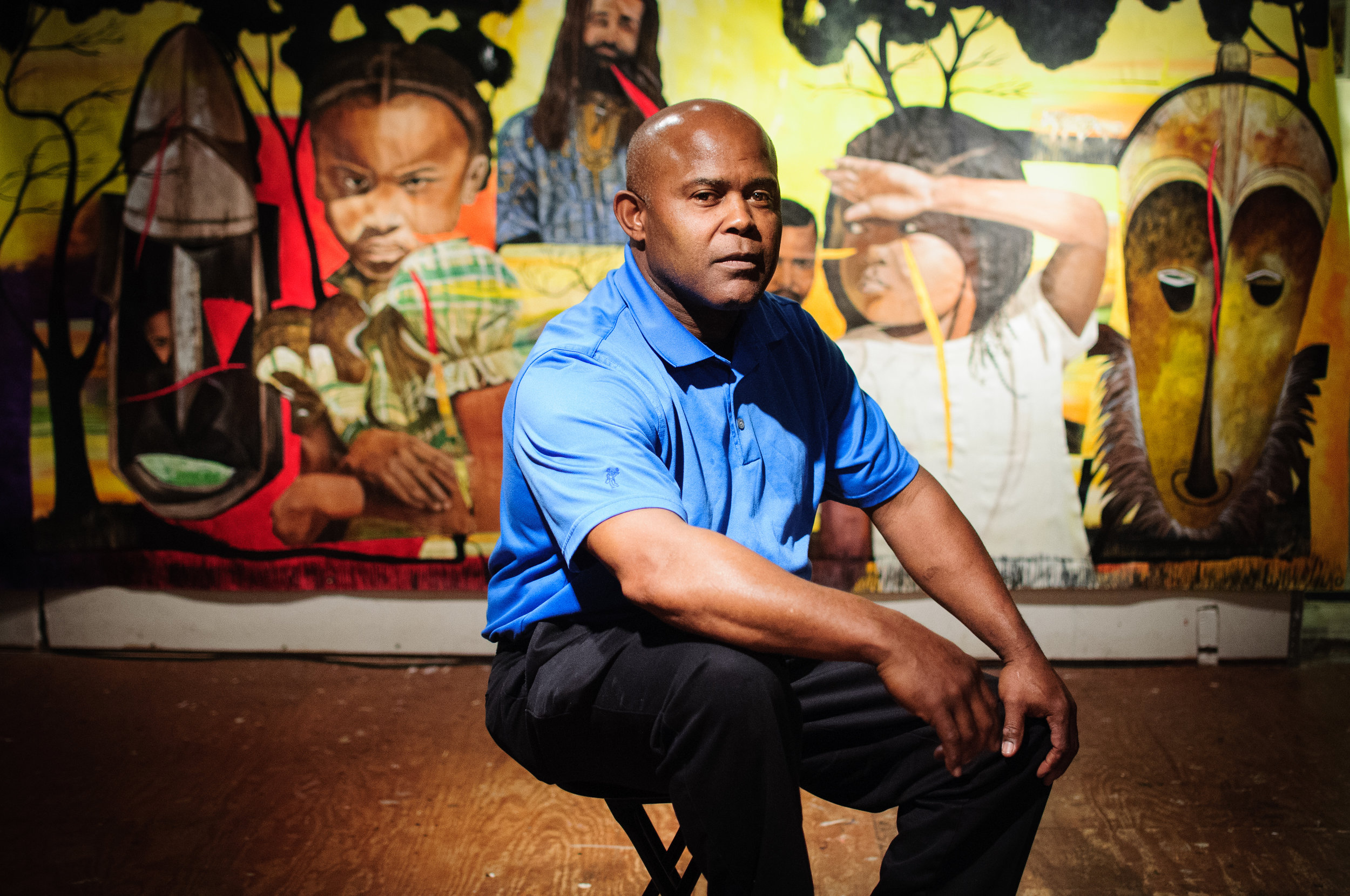 Portrait of educator Vaughn Holsey photographed in Washington, DC for the Corcoran College of Art.