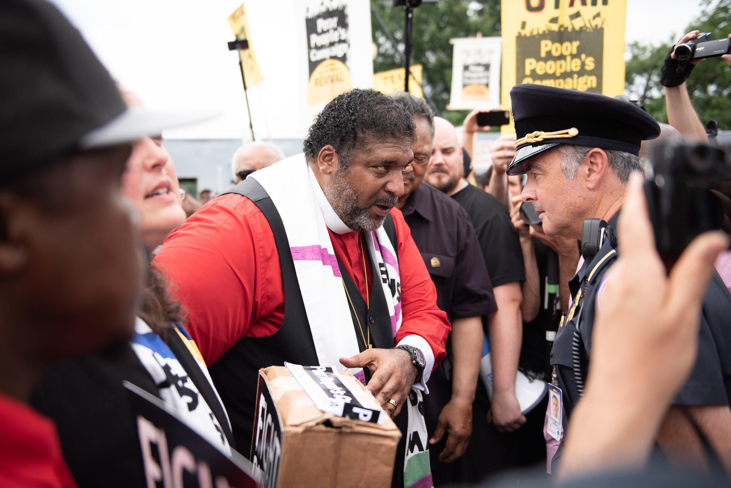 Rally and march for the Poor People's Campaign on June 23rd, 2018 in Washington, DC.