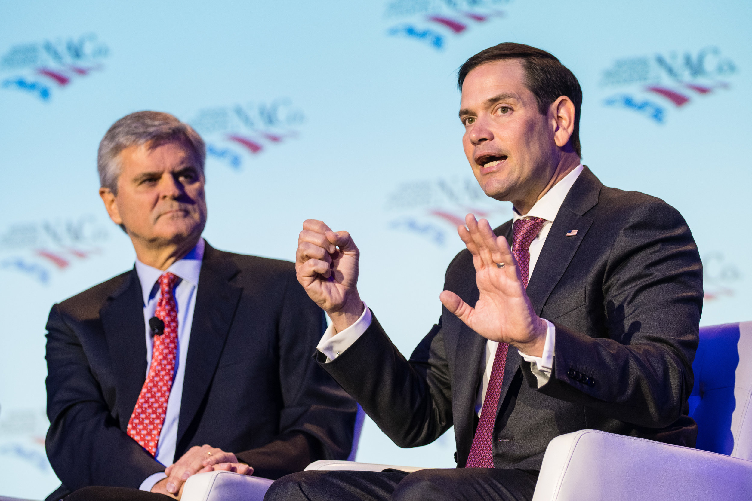 Steve Case, Chairman and CEO of Revolution and Co-Founder of America Online, and US Senator Marco Rubio during the general session of the NACo Legislative Conference in Washington, DC on Tuesday March 5th, 2019.