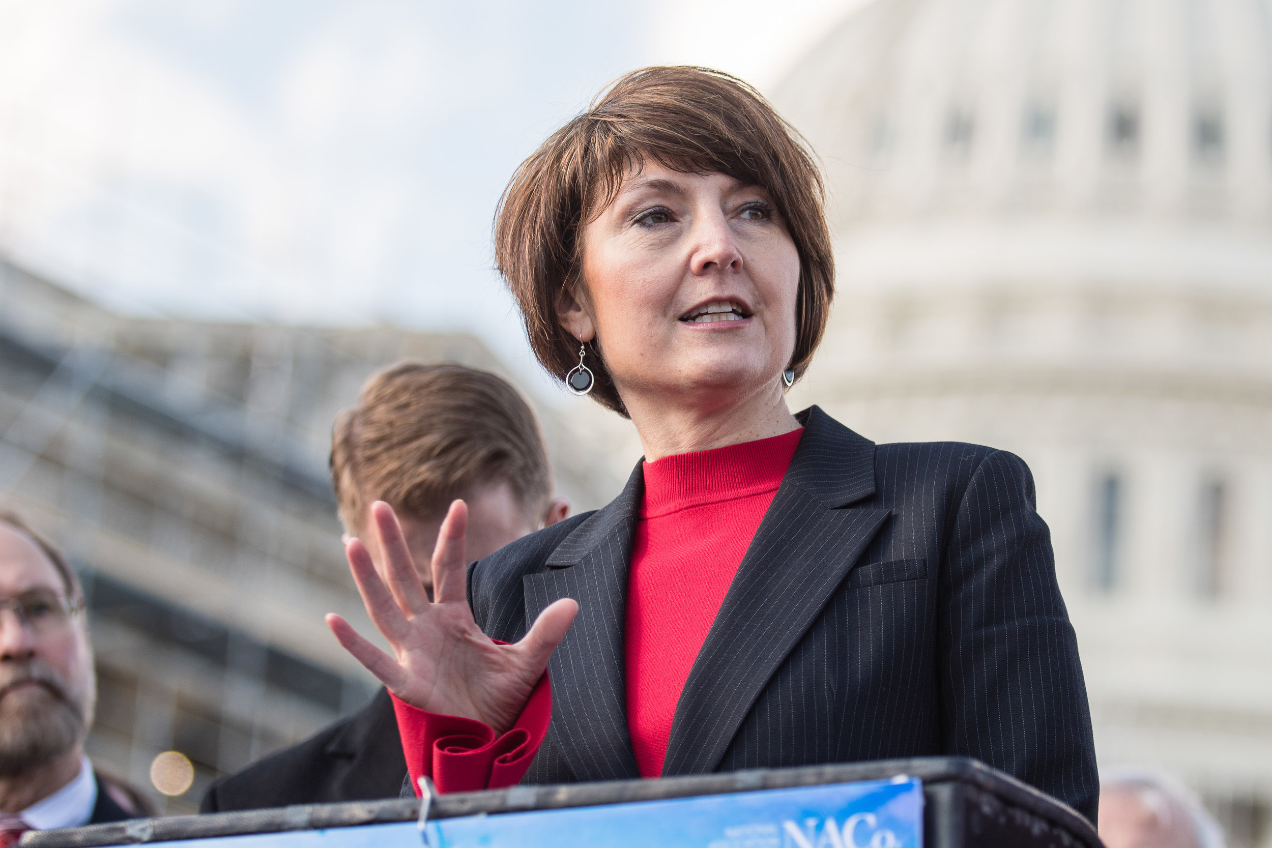 Rep. Cathy McMorris Rodgers in front of the US Capitol Dome
