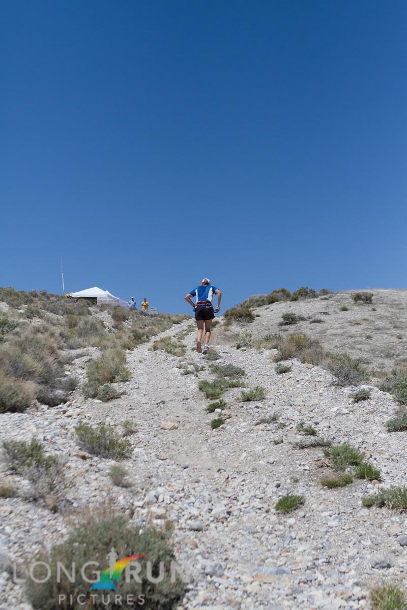 The steep climb to Aid 6