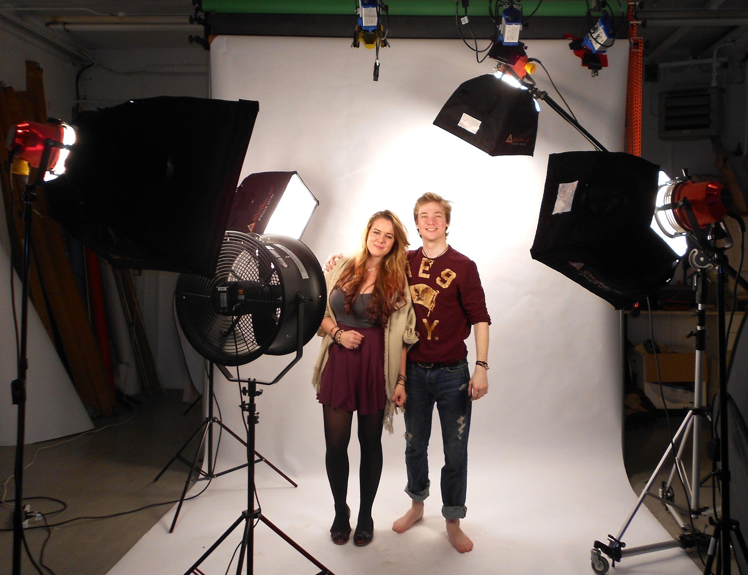 Stephanie and I on the set