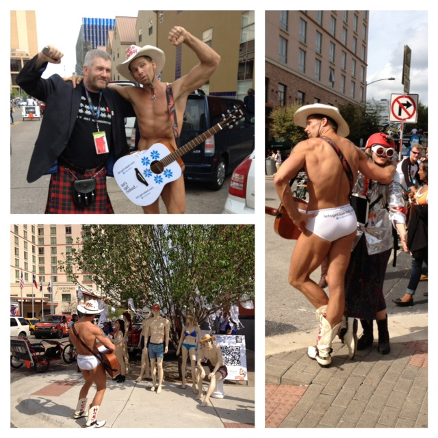 naked cowboy sxsw collage