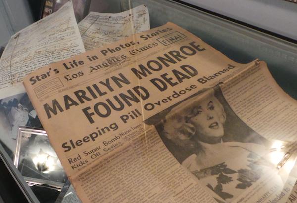 Marilyn Monroe Death Memorobilia Display Case.jpg