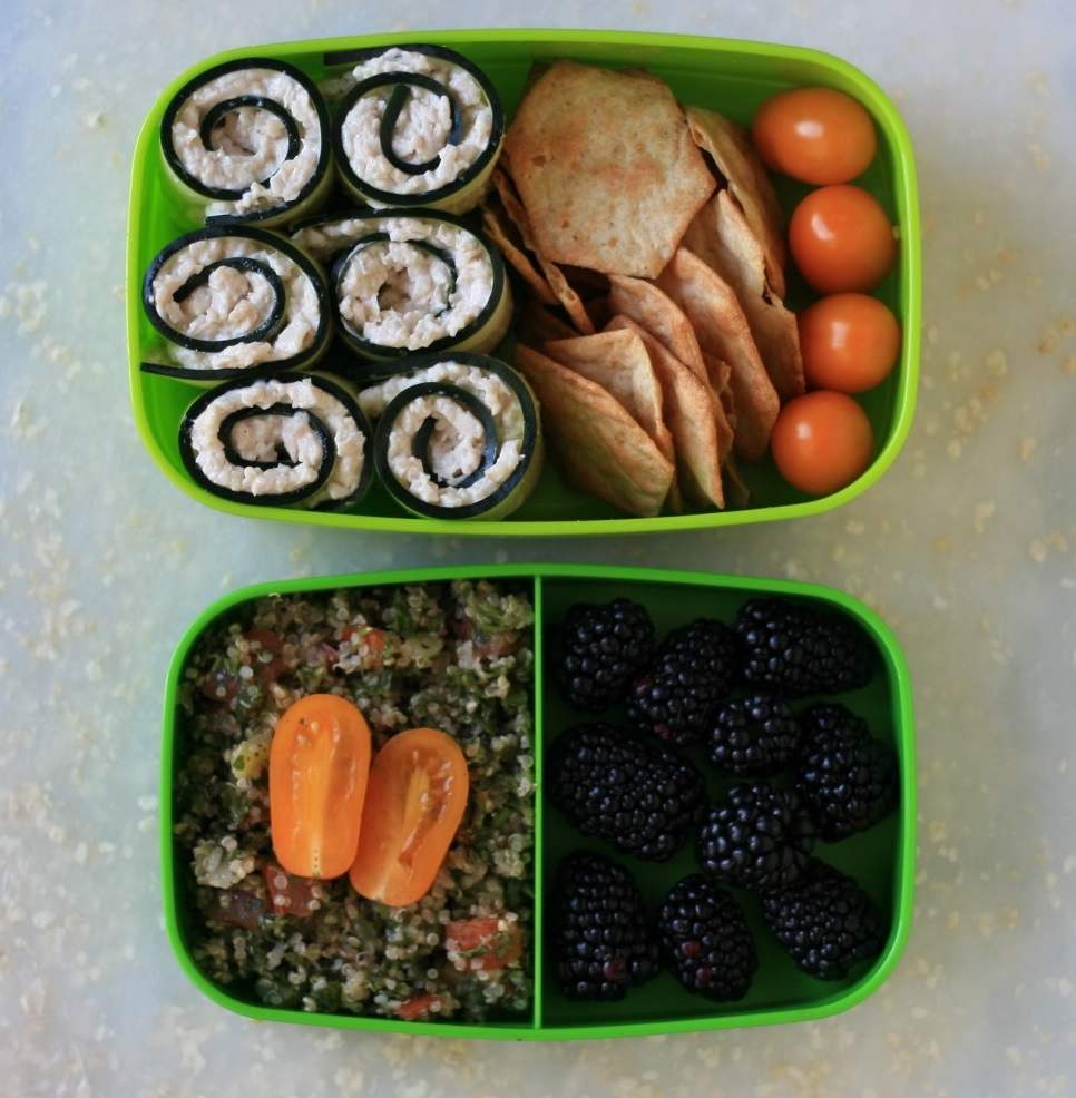 Bento Lunch Box Meal - Chicken Cucumber Rolls