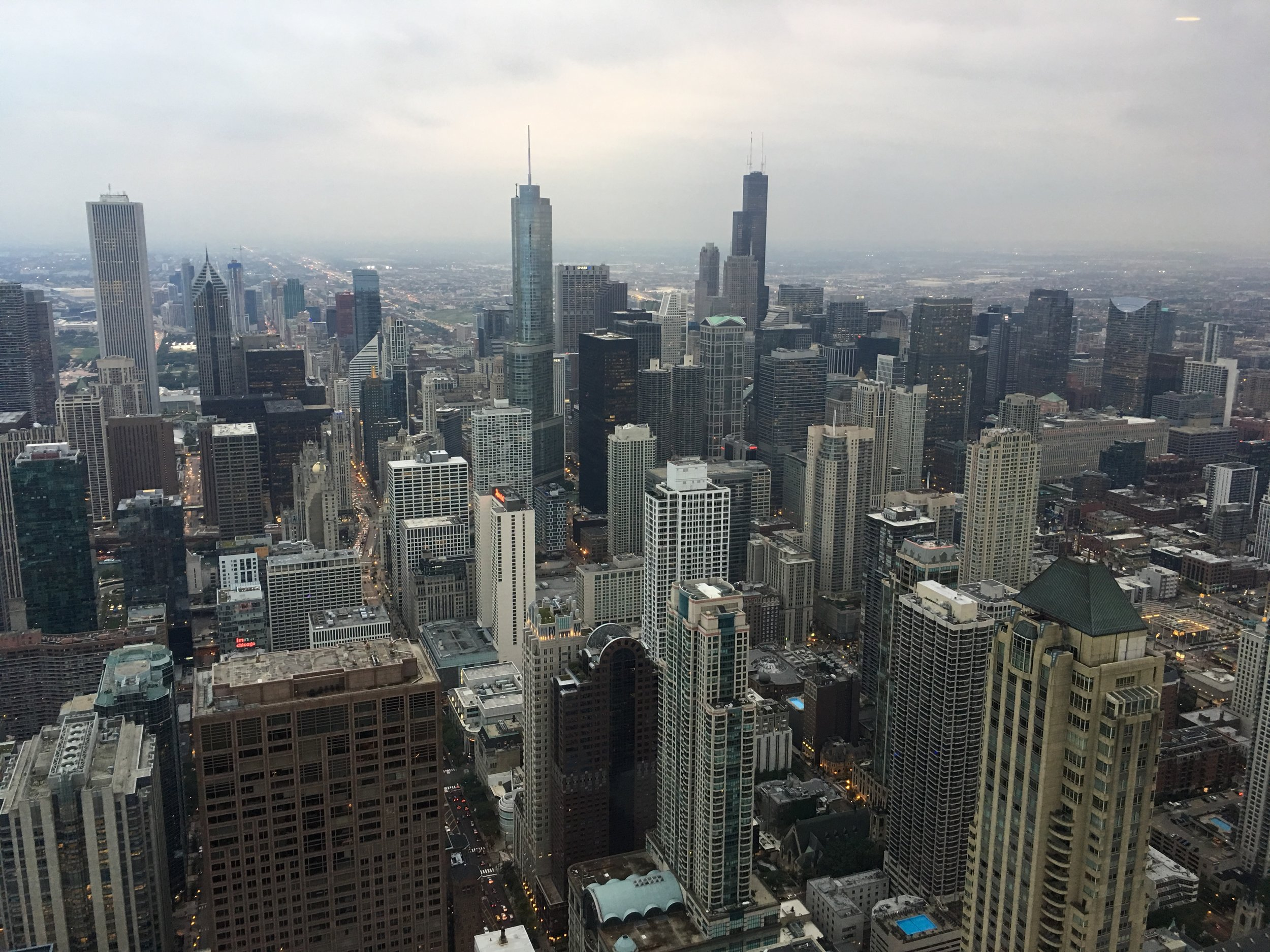 Chicago Skyline from Ladies Room at the Hancock.JPG
