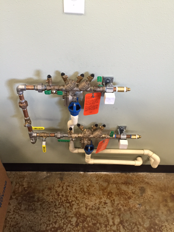 RP Backflow valves in an East Wenatchee, WA restaurant.