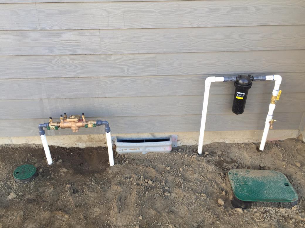 Domestic/Irrigation hook ups