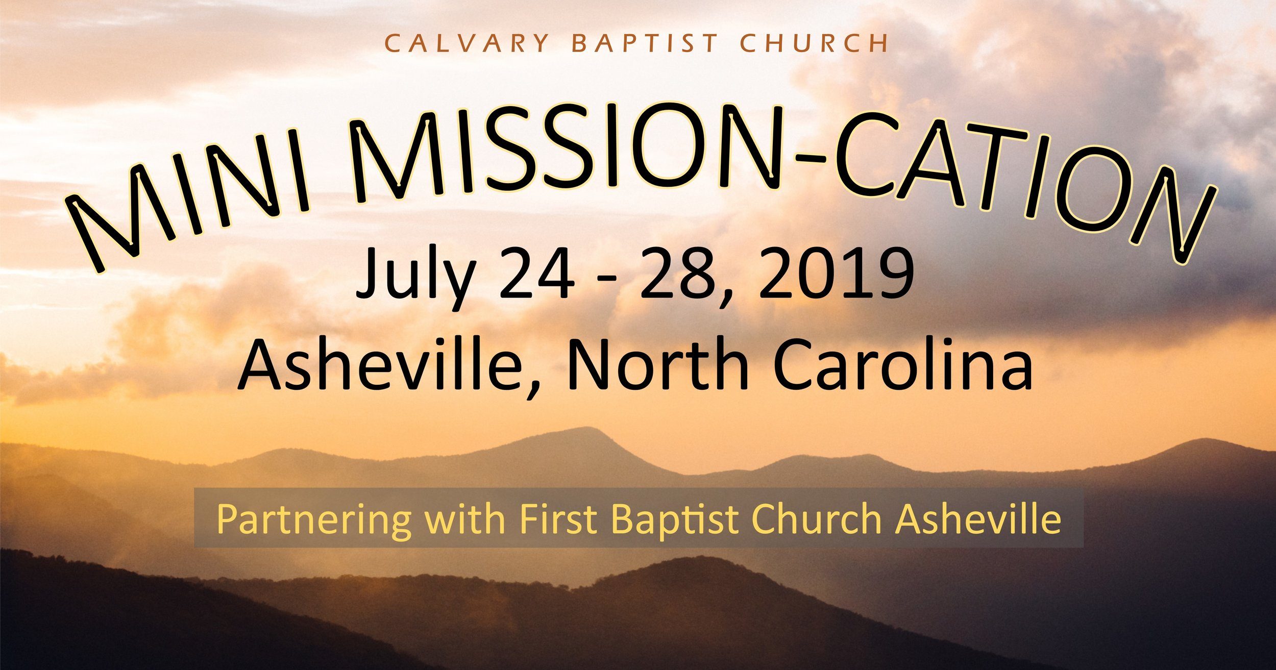 Click to see the details of our Asheville Mission trip.