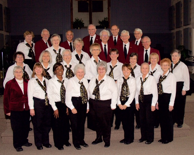 "The ""Young At Heart Singers"" are a 26-voice chorus of retired men and women based in East Lansing, Michigan who love to share their message of faith and hope through song."
