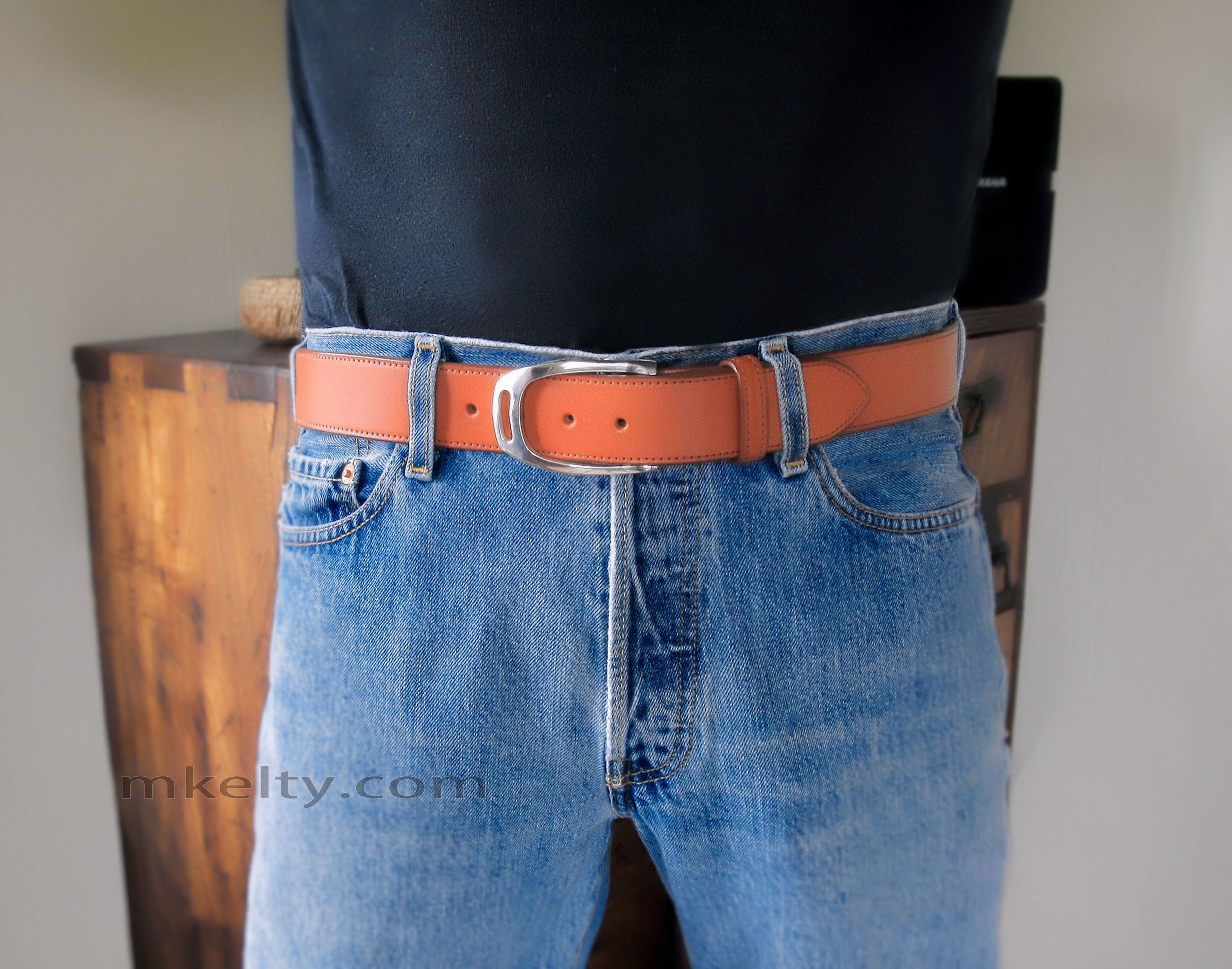 Stirrup Belt Buckle On Jeans