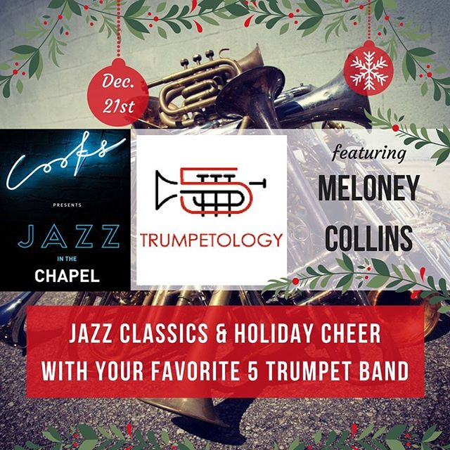 We'll be out playing on 12/21 @cookschapel @packingdistrict come hear some jazz and holiday music! #trumpets #jazz #southerncalifornia #holiday #holidaymusic #holidayevent #ocregister