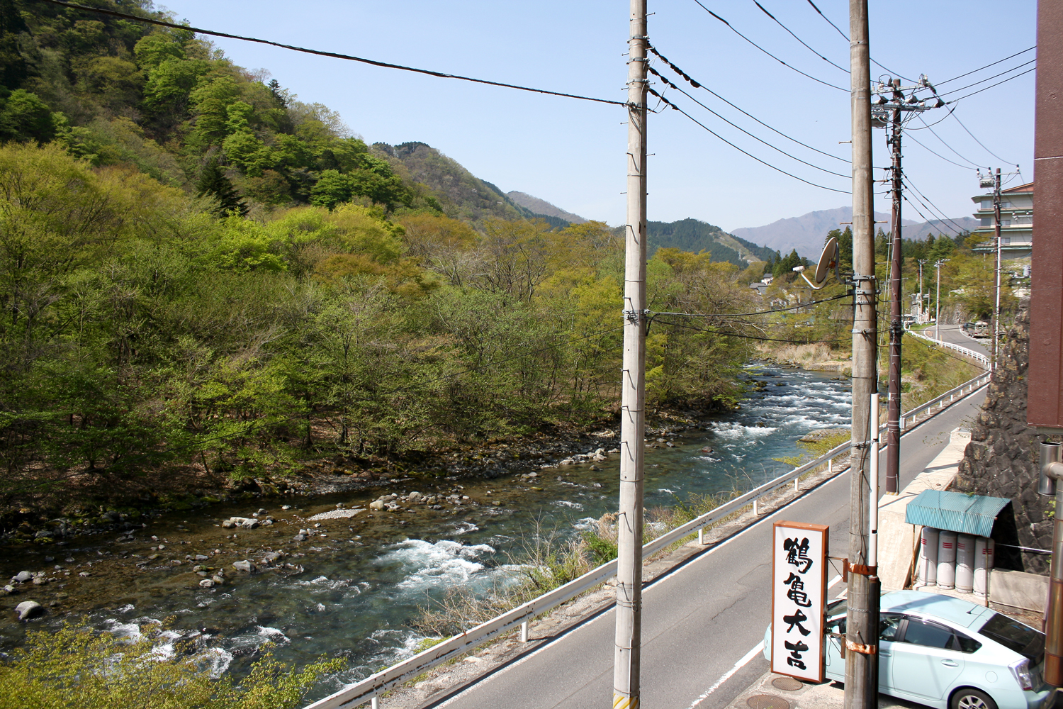 Kinugawa River from our onsen, Nikko