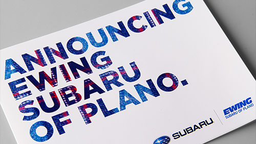 Feelin' the Love: New Work for Ewing Subaru of Plano