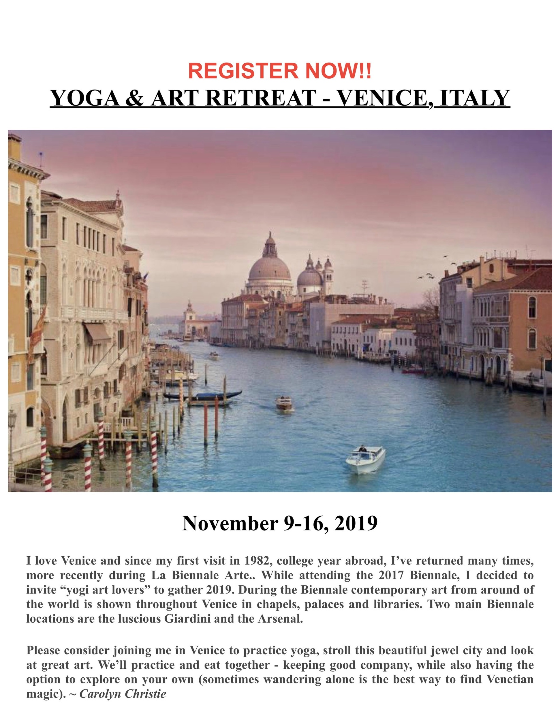Carolyn Yoga Venice