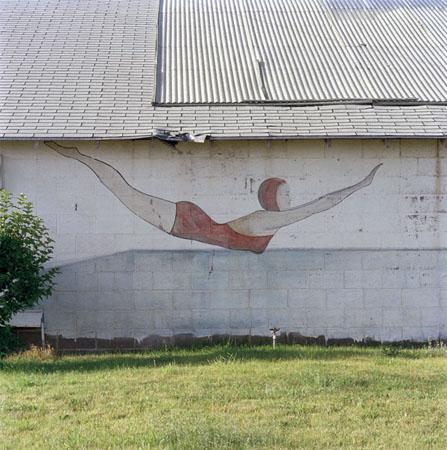 Jeff Brouws Swan Dive, Beaver, Utah, 1992  24 x 20 inches archival pigment print