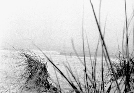 David Vestal Jones Beach, New York, 1957  9 x 13.5 inches vintage silver print mounted to board