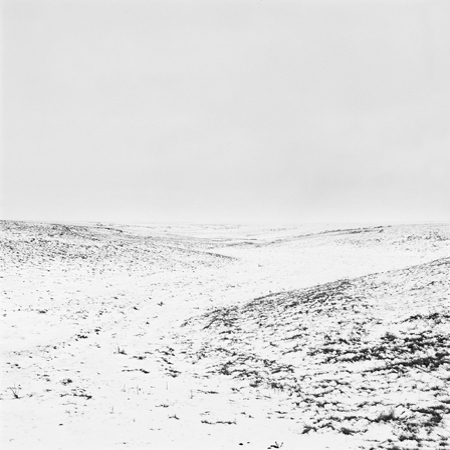 Snow, High Plains, 2007 Negative #W2_18_07 from the series  West and West   24 x 24 inches edition of 5 carbon pigment print