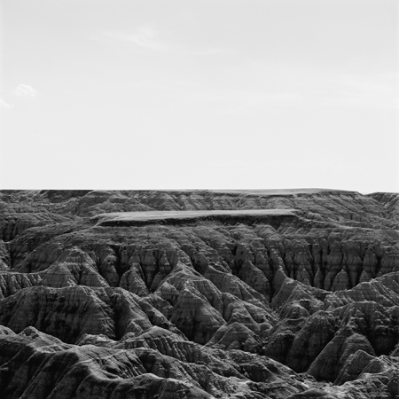 Badlands, Missouri Plateau, 2005 Negative #W7_13_05 from the series  West and West   24 x 24 inches edition of 5 carbon pigment print