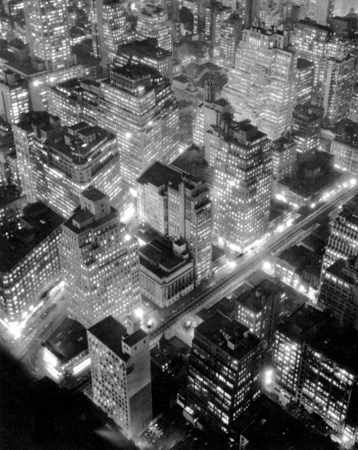 Berenice Abbott Nightview, New York, 1932 13.5 x 10 inches photogravure