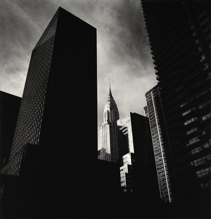 Michael Kenna Chrysler Building, New York, 2000 8 x 7.5 inches toned silver print edition of 45