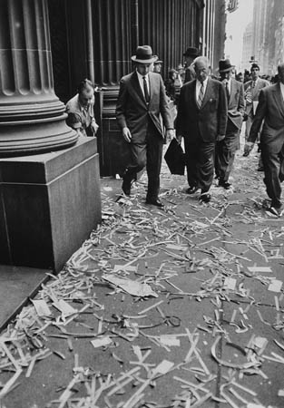Dan Weiner Wall Street Ticker Tape, c.1949 14 x 11 inches vintage silver print