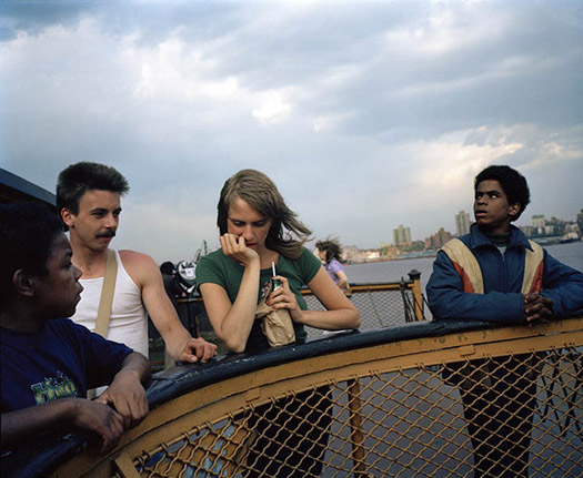 Leo Rubinfien On the Staten Island Ferry, New York, 1980 20 x 24 inches archival pigment print