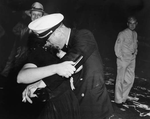 Weegee Victory Celebration, 1945 11 x 14 inches vintage ferrotyped silver print