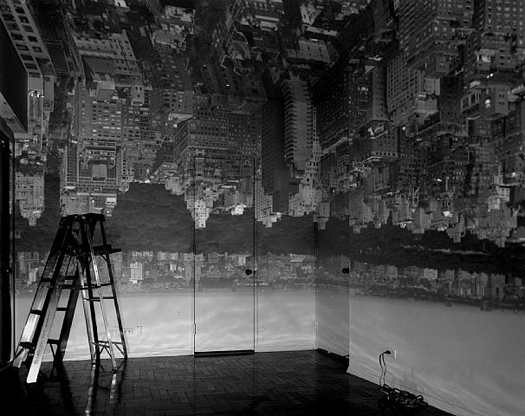 Abelardo Morell Camera Obscura Image of Manhattan View Looking West in an Empty Room, 1996 20 x 24 inches silver print