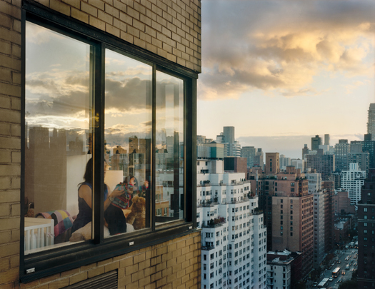 Gail Albert Halaban Out My Window, Upper East Side, Baby at Window, 2008 20 x 24 inches archival pigment print