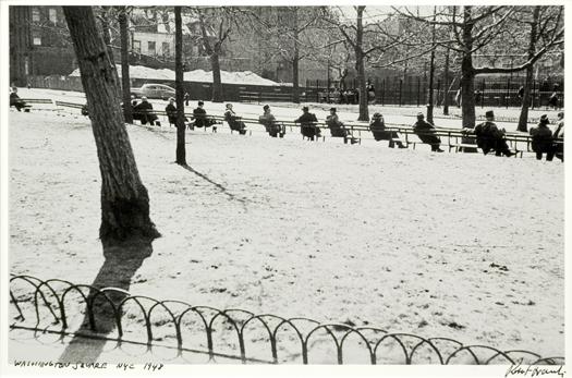 Washington Square, NYC, 1948 11 x 14 inches silver print