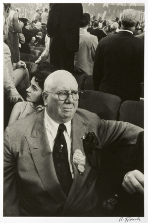Chicago Delegate, c. 1956 14 x 11 inches vintage silver print