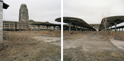 Jeff Brouws Abandoned New York Central Railroad Station, Buffalo, New York, 2007 24 x 38 inches edition of 7 archival pigment print