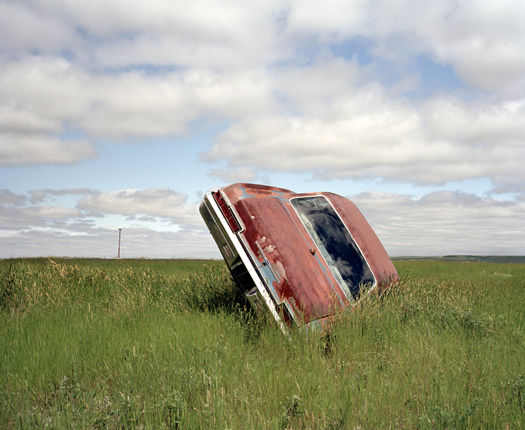 Jeff Brouws Car in Landscape, Montana, 2004 43 x 51.5 inches edition of 5 chromogenic dye coupler print