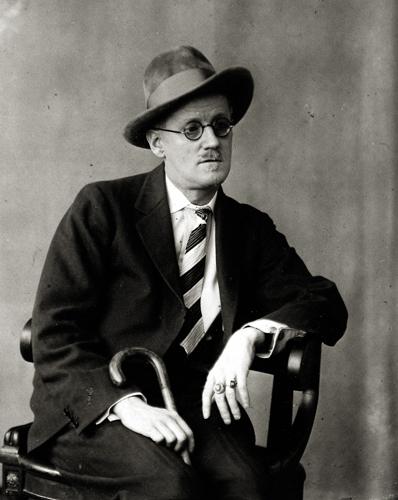 Berenice Abbott James Joyce, 1928 3.75 x 3 inches vintage silver print