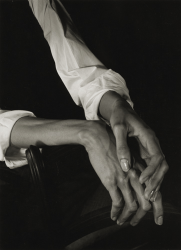Minor White Hands, 1949 4.5 x 3.25 inches vintage silver print