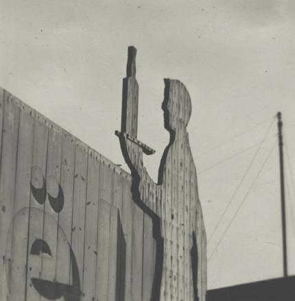 André Kertész Untitled (Billboard), Paris, c.1931-33 2.125 x 2.125 inches vintage silver print
