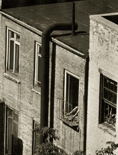 André Kertész Woman's Legs Out Window, 1962 4.9 x 3.75 inches vintage silver print