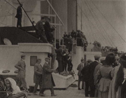 Paul Haviland Ship Deck, c.1910 3.6 x 4.6 inches vintage platinum print