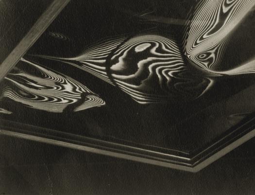 Carlotta Corpron Fluid Light Design, c.1930s 2.5 x 3.25 inches vintage silver print