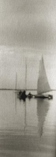 R. Redfield Becalmed, 1900 3.5 x 1.4 inches vintage platinum print