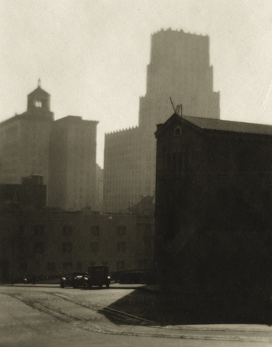 William Dassonville Building Forms, c.1925 4.5 x 3.5 inches vintage silver print