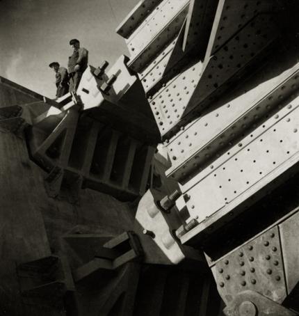 Emil Heilborn West Bridge Under Construction, Stockolm, 1934 2.75 x 2.25 inches vintage ferrotype print