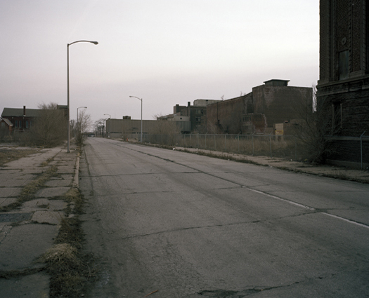 Montgomery Street, Former Central Business District, Gary, Indiana, 2004 38 x 44.5 inches edition of 10 archival pigment print